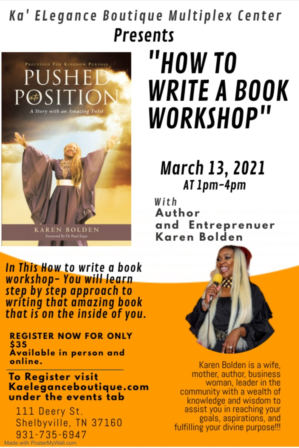 How to Write A Book Workshop