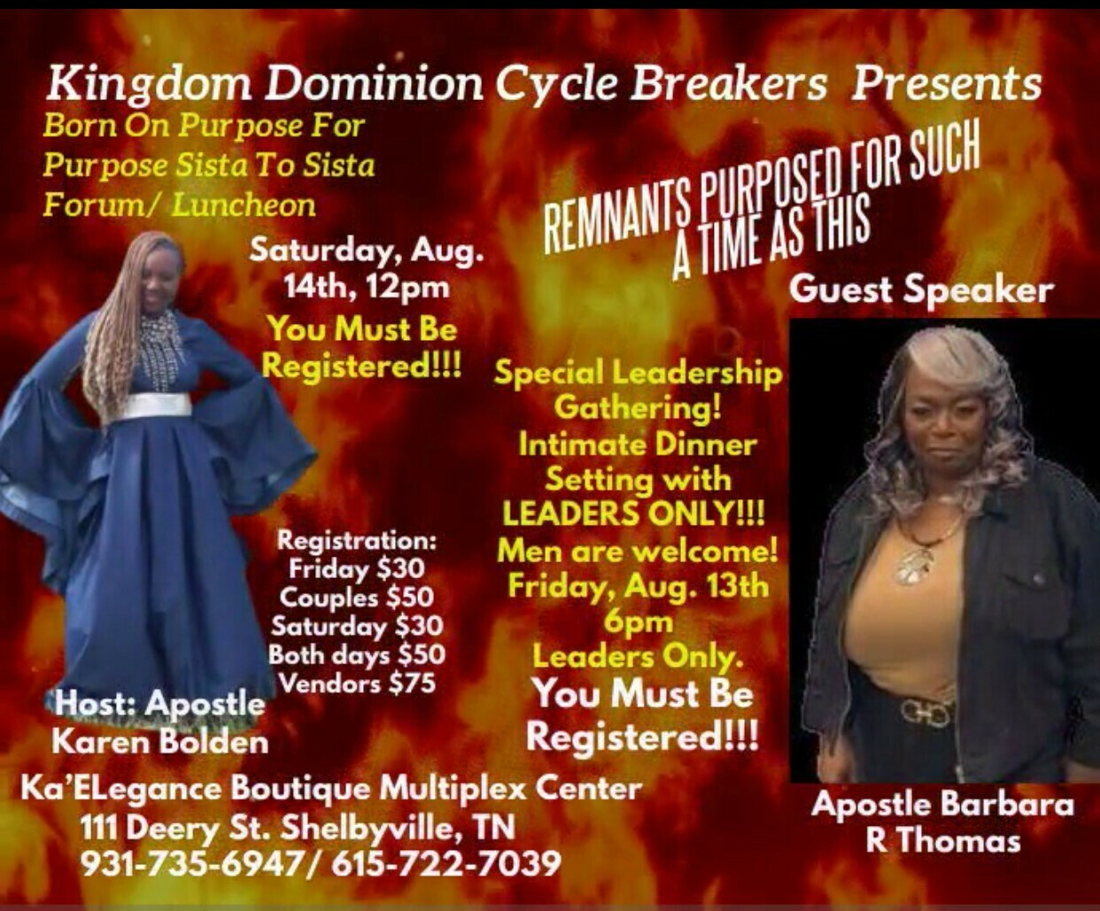 Born On Purpose For Purpose Leadership Gathering Dinner/ Sista To Sista Forum And Luncheon