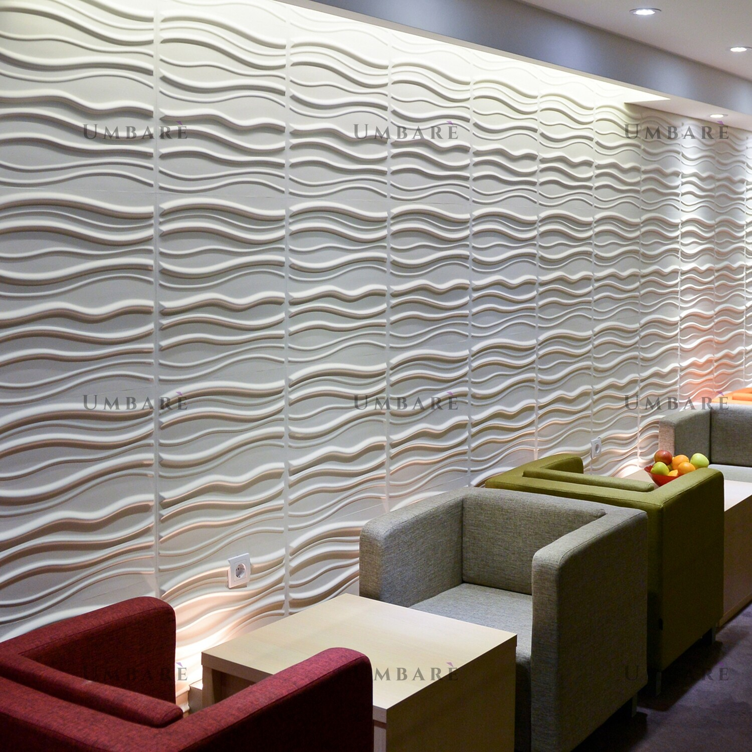Accent Wall With 3D Panels