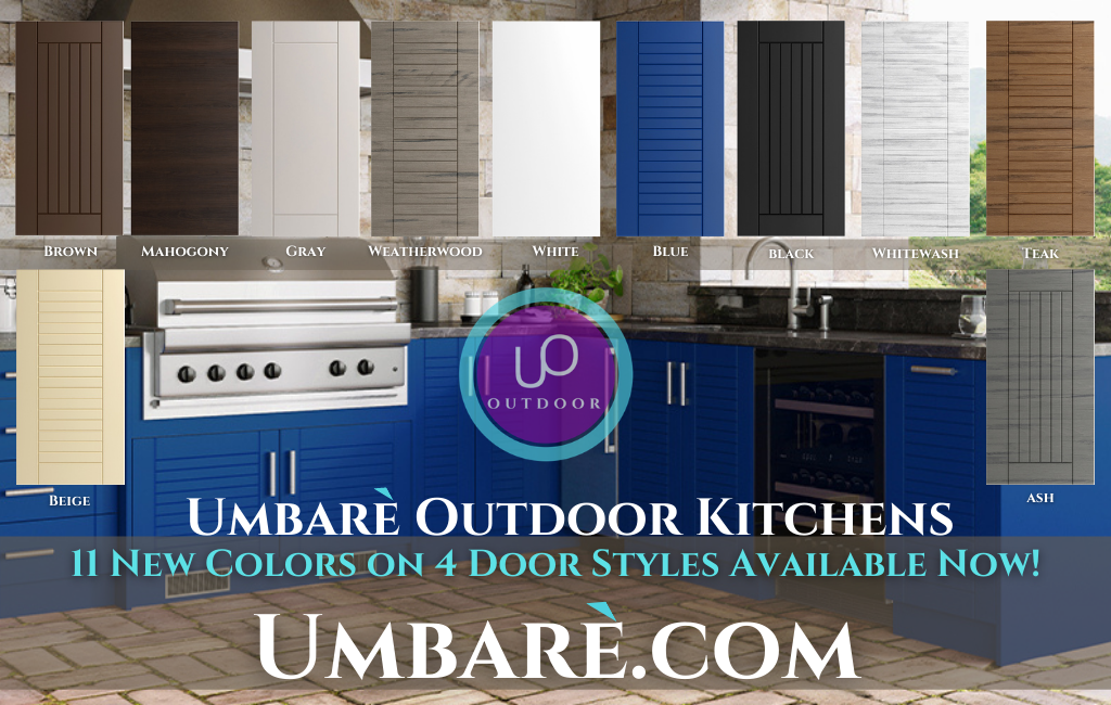 Outdoor Kitchen Umbare Polymer Cabinets