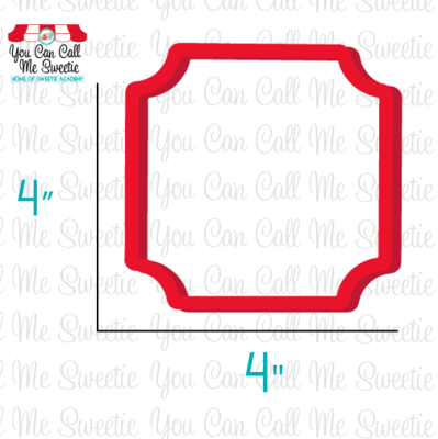 Sweetie Square Plaque Cutter