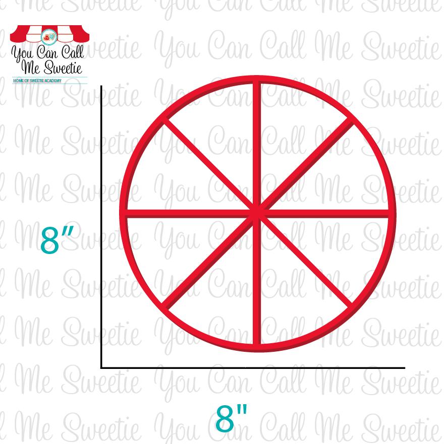 """8"""" Round Pizza Cookie  Cutter"""