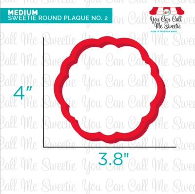 Sweetie Round Plaque No.2 Medium- BACK ORDER