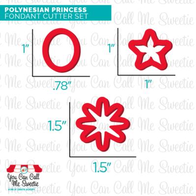 Polynesian Princess Fondant Cutter set