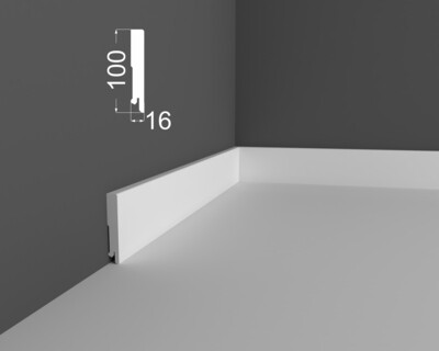 Плинтус напольный DeArtio под покраску P6.100.16
