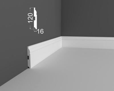 Плинтус напольный DeArtio под покраску Р3.120.16
