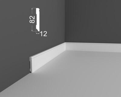 Плинтус напольный DeArtio под покраску Р22.82.12