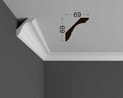 Потолочный плинтус Deartio под покраску K 1.97.20
