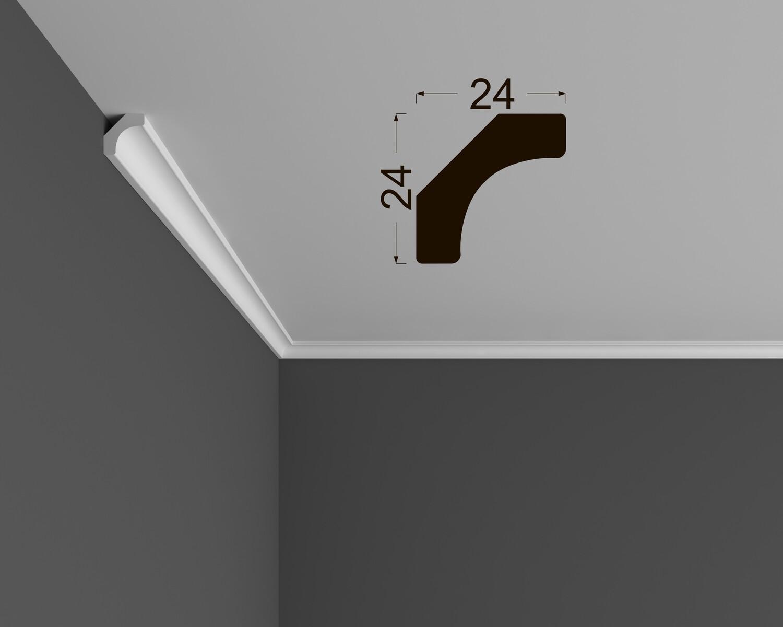 Потолочный плинтус Deartio под покраску К 2.33.12