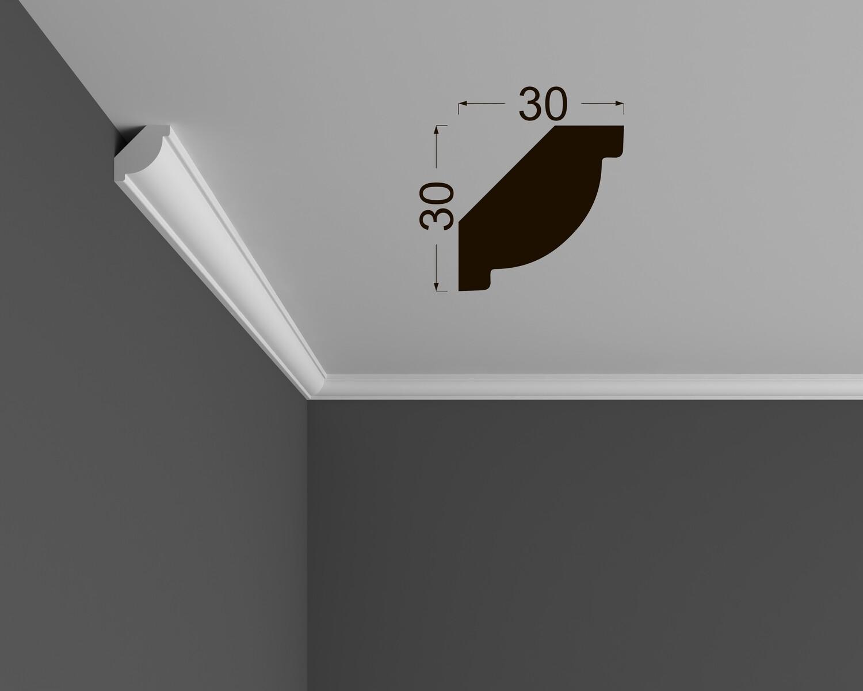 Потолочный плинтус Deartio под покраску К 3.42.16