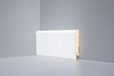 W02 - 80 мм белый напольный плинтус МДФ Deartio