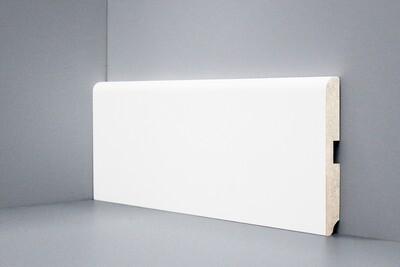 W02 - 120 мм белый напольный плинтус МДФ Deartio