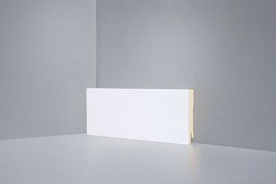 W06 - 80 мм белый напольный плинтус МДФ Deartio