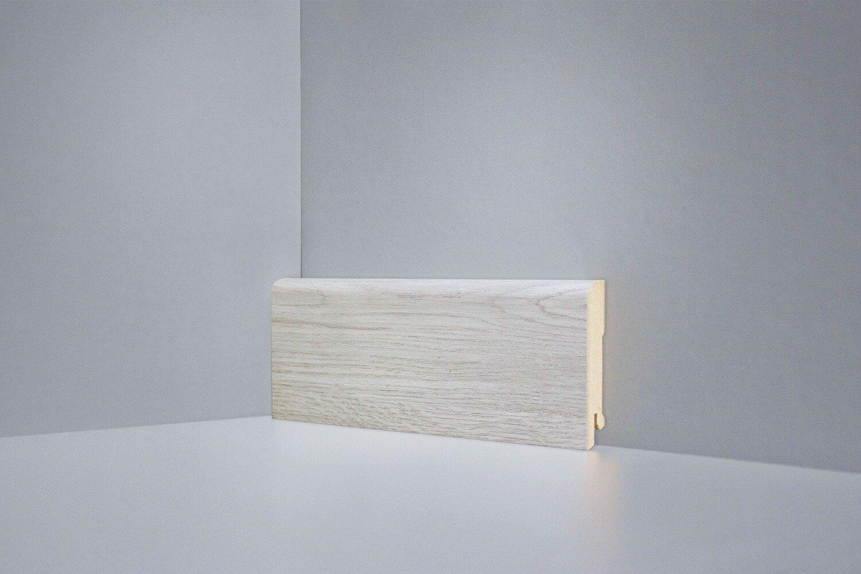 B202-05 дуб янтарный светло-серый плинтус напольный Deartio Best