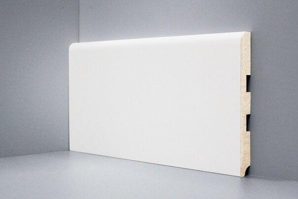 U102 - 150 мм широкий белый плинтус МДФ Deartio