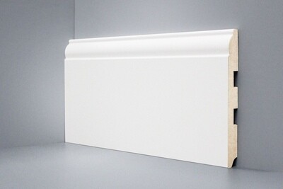 U104 - 150 мм широкий белый плинтус МДФ Deartio