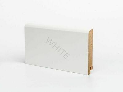 Плинтус напольный W02 - 100 мм белый МДФ Deartio