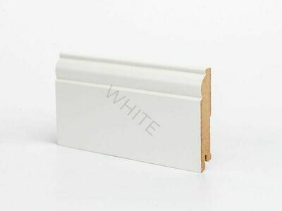 Плинтус напольный W04 - 100 мм белый МДФ Deartio