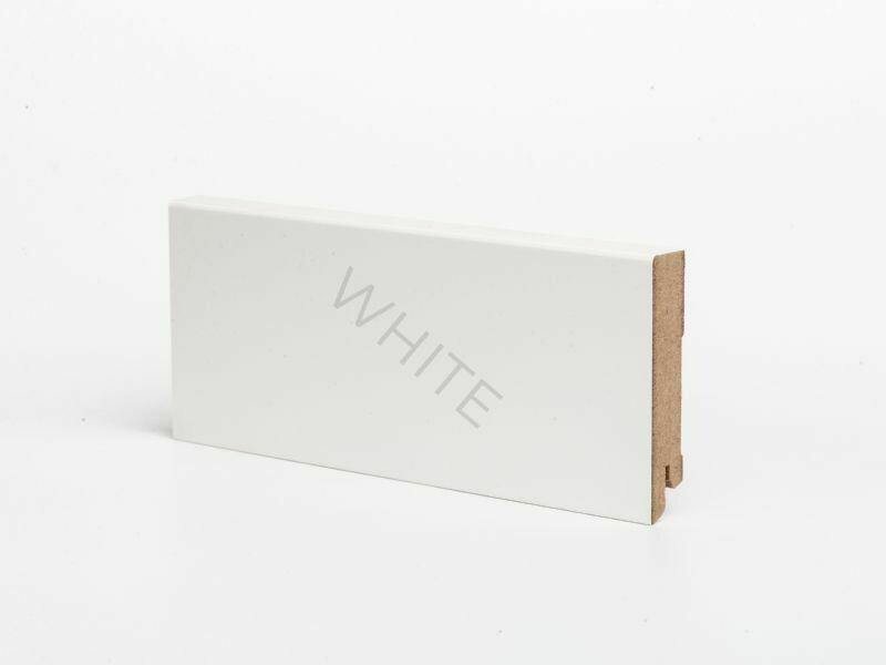 Плинтус напольный W06 - 80 мм белый МДФ Deartio