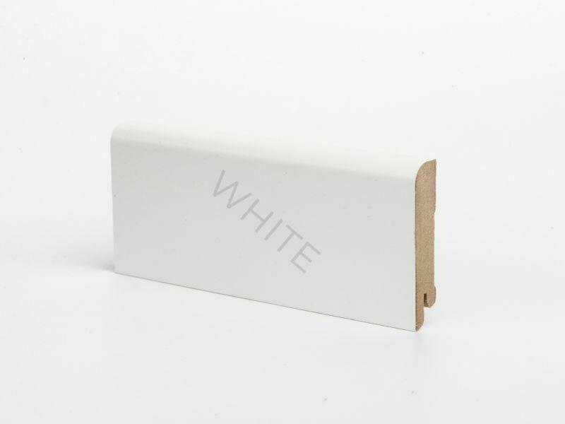 W02 - 60 мм белый напольный плинтус МДФ Deartio