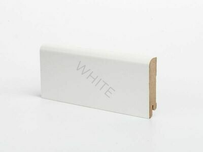 Плинтус напольный W02 - 80 мм белый МДФ Deartio