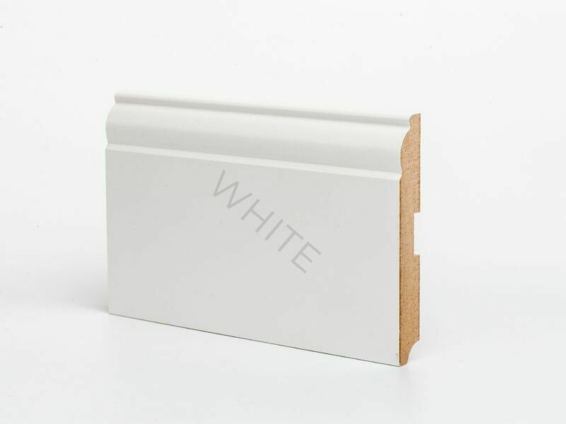 W04 - 120 мм белый напольный плинтус МДФ Deartio