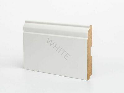 Плинтус напольный W04 - 120 мм белый МДФ Deartio