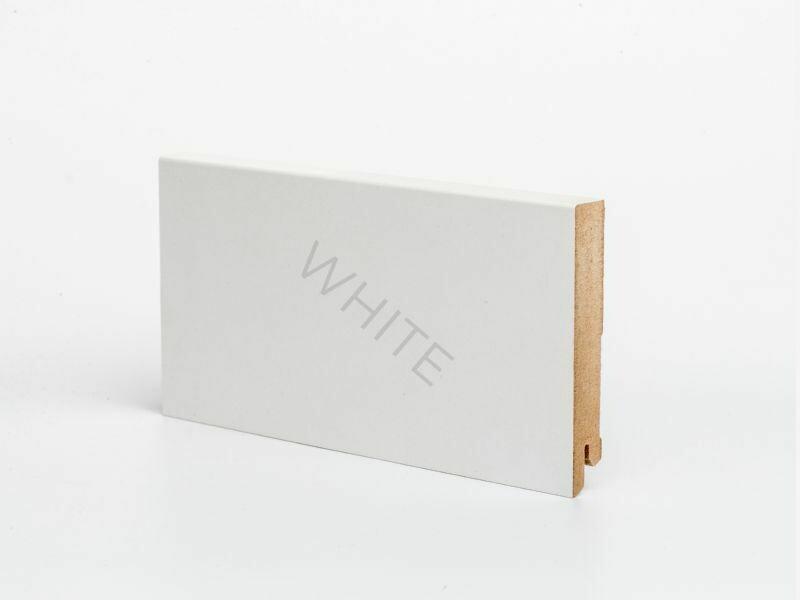 Плинтус напольный W06 - 100 мм белый МДФ Deartio