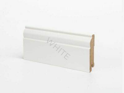 Плинтус напольный W04 - 80 мм белый МДФ Deartio