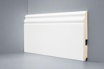 U105 - 150 мм широкий белый плинтус МДФ Deartio