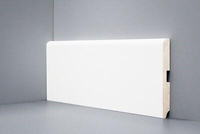 U102 - 120 мм широкий белый плинтус МДФ Deartio