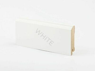 Плинтус напольный W28 - 80 мм белый МДФ Deartio