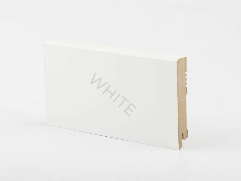 W29 - 100 мм белый напольный плинтус МДФ Deartio