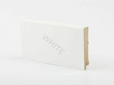Плинтус напольный W29 - 100 мм белый МДФ Deartio
