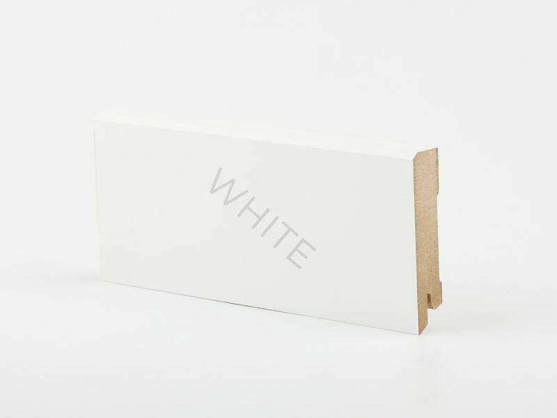 W29 - 80 мм белый напольный плинтус МДФ Deartio