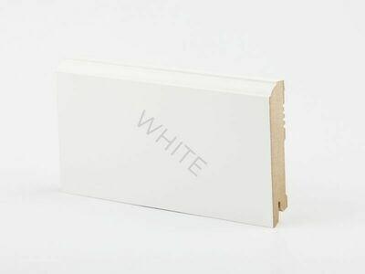 Плинтус напольный W28 - 100 мм белый МДФ Deartio