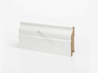 Плинтус напольный белый U103-80 мм МДФ Deartio