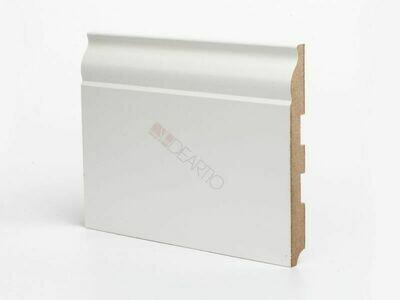Плинтус напольный белый U103 - 150 мм широкий МДФ Deartio