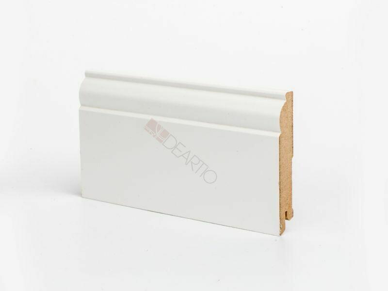 Плинтус напольный белый U104 - 100 мм широкий МДФ Deartio