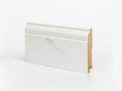 Плинтус напольный белый U104-100 мм широкий МДФ Deartio