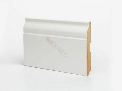 Плинтус напольный белый U103 - 120 мм широкий МДФ Deartio