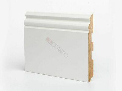 Плинтус напольный белый U105 - 150 мм широкий МДФ Deartio