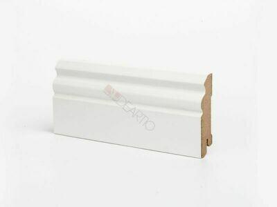 Плинтус напольный белый U105-80 мм МДФ Deartio