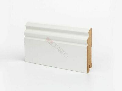Плинтус напольный белый U105-100 мм широкий МДФ Deartio