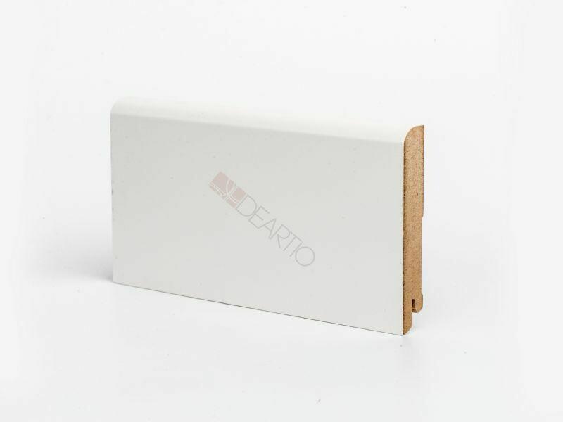 Плинтус напольный белый U102 - 100 мм широкий МДФ Deartio
