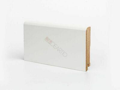 Плинтус напольный белый U102-100 мм широкий МДФ Deartio