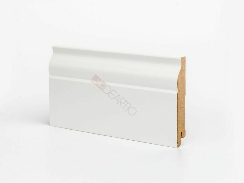 Плинтус напольный белый U103 - 100 мм широкий МДФ Deartio
