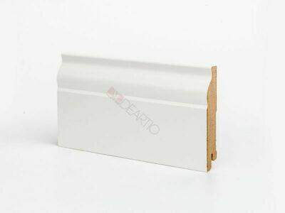 Плинтус напольный белый U103-100 мм широкий МДФ Deartio