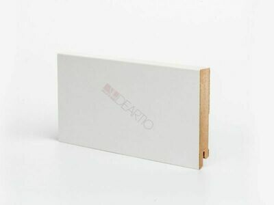 Плинтус напольный белый U106-100 мм широкий МДФ Deartio