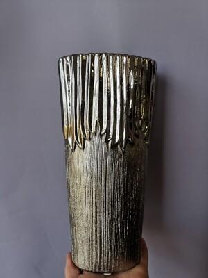 Ваза зеркальное серебро (керамика) h-25см